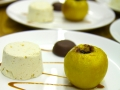 Baked apple with Hazelnut parfait and salty caramel rolo