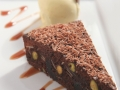 Pistachio and black cherry hot chocolate Brownie