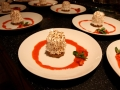 Rhubarb parfait and ginger bread baked Alaska